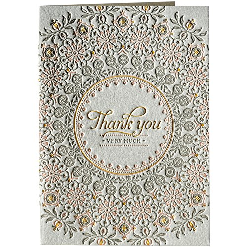 Doilee Letterpress Thank You Notes