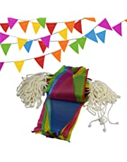 150Pcs Pennant Banner Flags,Simuer 262 Ft Triangle Flag Banner String Flags Multicolor for Birthdays Party Festivals Grand Opening Christmas Decorations