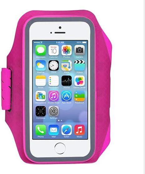 WLWLEO Estuche para Brazalete para teléfono Celular Resistente al Agua para iPhone X, 6,6 S con Bolsa de teléfono con Soporte de Banda elástica Ajustable para Deportes al Aire Libre,Pink: Amazon.es: Deportes