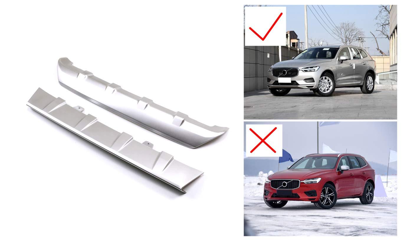 Protector de parachoques delantero y trasero de plástico ABS de alto volteo, 2 piezas para XC60 2018 (No se ajusta al XC60 R-Design): Amazon.es: Coche y ...