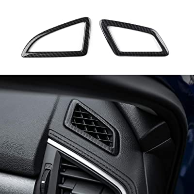 Thenice for 10th Gen Civic ABS Carbon Fiber Style Dashboard Air Vent Trims Wind Outlet Decoration Stickers for Honda Civic 2016 2020 2020 2020 2020: Appliances