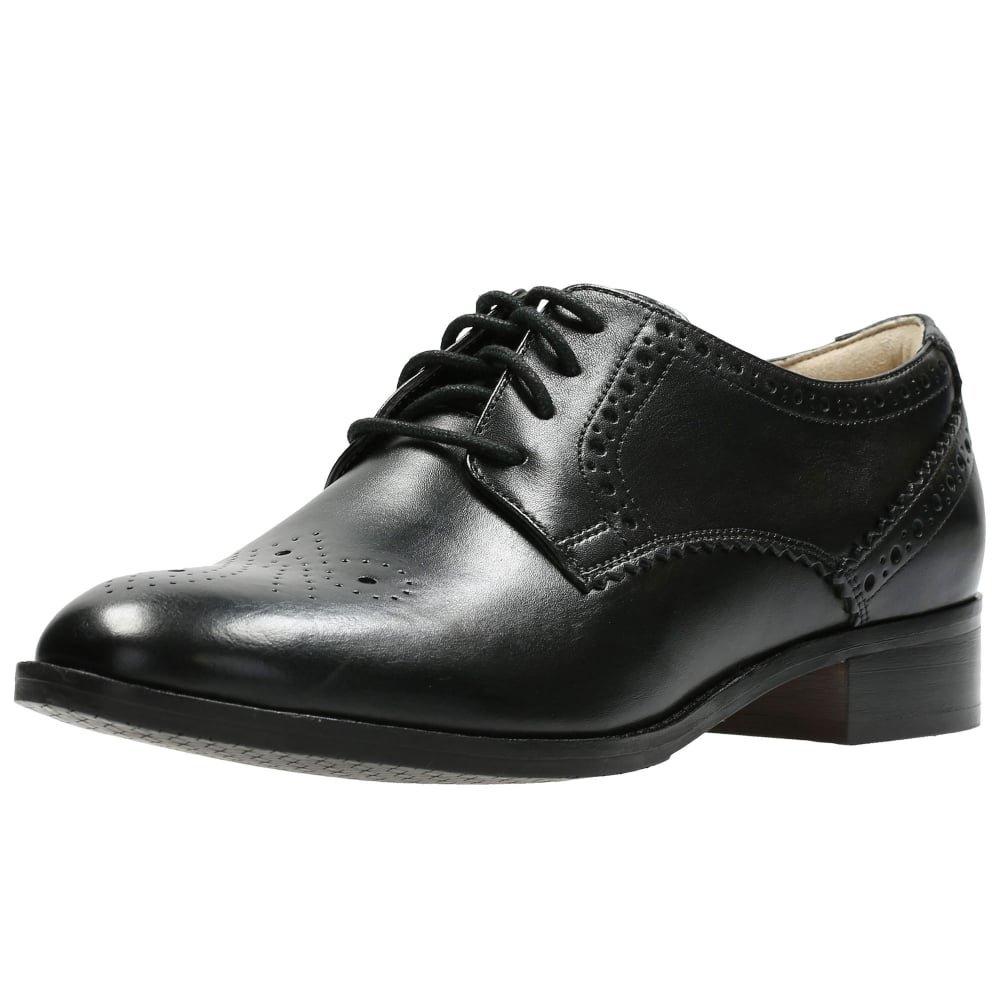 Clarks Habillé Femme Chaussures Netley Rose en Cuir Noir Taille 37