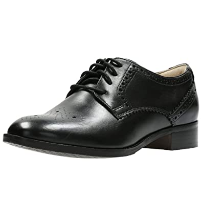 Clarks Vestir Mujer Zapatos Netley Rose En Piel Negro Tamaño 42
