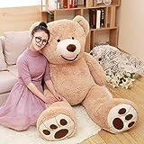 DOLDOA Big Teddy Bear Stuffed Animals with Footprints Plush Toy for Girlfriend Brown 51 inch