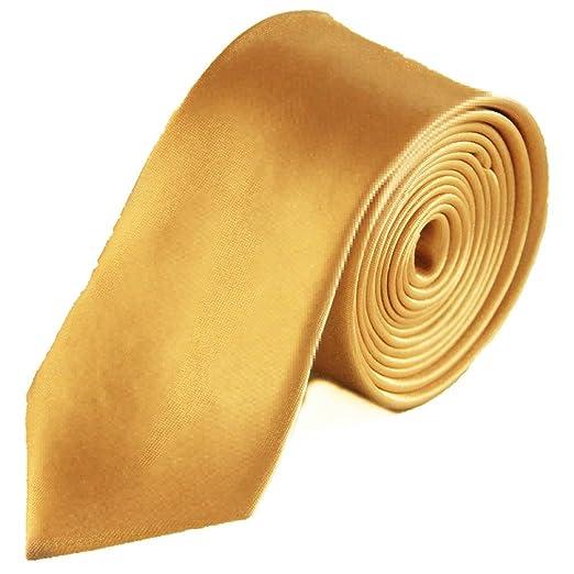 7ebbf9ffc450 Men's Neckties Solid Neck Tie - Champagne Gold at Amazon Men's ...