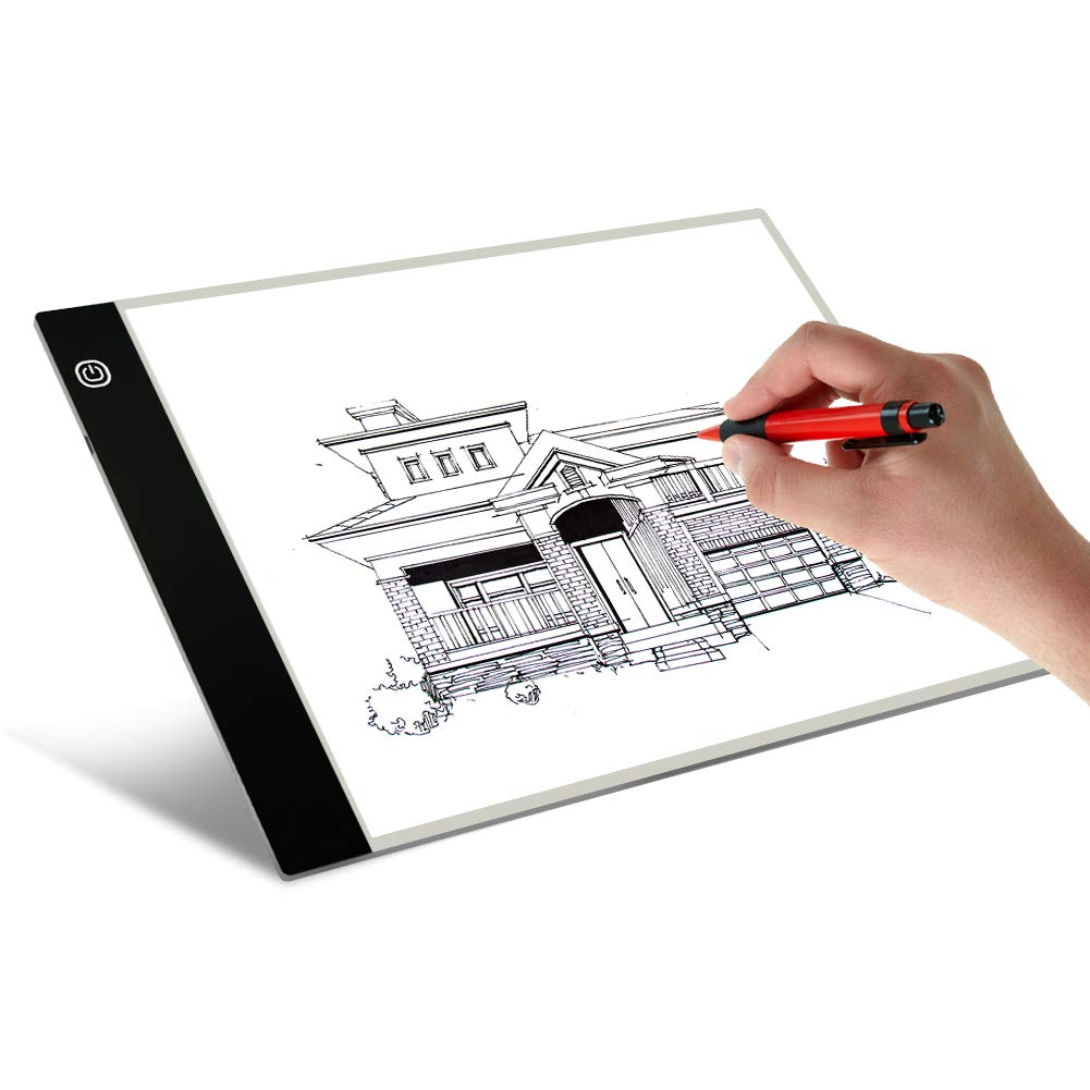 A4 LED Artists Light Box for Drawing Thin Portable Light Box Tracer Pad 3.5mm USB Power, 3 Level Brightness Pad LED Light by Schliersee