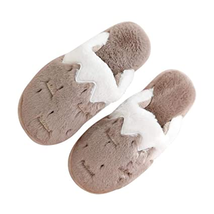 b1aa625e753d Amazon.com  Kyle Walsh Pa Women Cotton Slippers Warm Indoor Flat ...