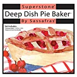 deep dish pizza stone - Sassafras SuperStone Deep Dish Pizza/Pie Baker