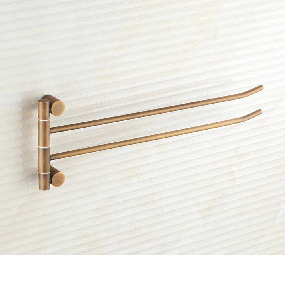 outlet Antique copper towel rack full/removable Towel Bar/Single pole double Towel Bar/Bathroom rotate towel hanging-A