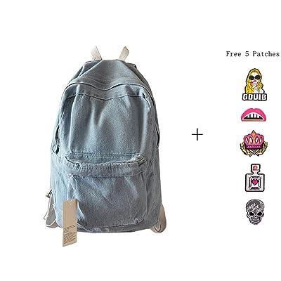 lovely College School Bags Backpacks Girls Denim Cute Bookbags Student Backpack School Laptop Backpack Bag Pack Super Cute for School for Teenage