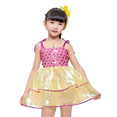 22f477b8 BOZEVON Girls Sequin Modern Dance Costumes Party Fancy Princess Dress Tutu  Skirt Dance Wear Competition Performances Outfits: Amazon.co.uk: Clothing
