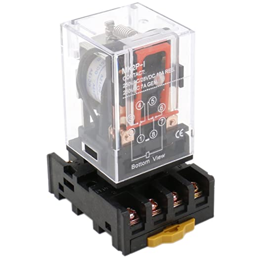 Heschen Gereral Purpose Power Relay HH54P-L 220VAC Coil 3A 220VAC//24VDC 4PDT 14 Pin Terminals LED Indicator