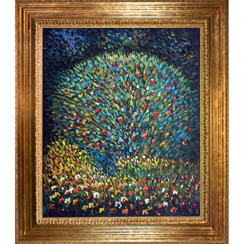 overstockart-gustav-klimt-apple-tree-i-20-inch-by-24-inch-framed-oil-on-canvas