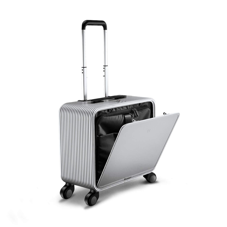 [トゥジアTUPLUS] スーツケース キャリーケース 可愛い 機内持ち込み TSAロック搭載 アルミフレーム 超軽量(30L 42cm 4.1kg) B07QK3JHGC シルバー