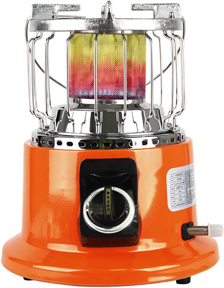 JCJ-Shop NB-66 Patio Liquefied Gas Heater, Stainless Steel Portable Outdoor Heat Lamp Have Triple Protection, for Indoor and Winter Outdoor Camping Stove