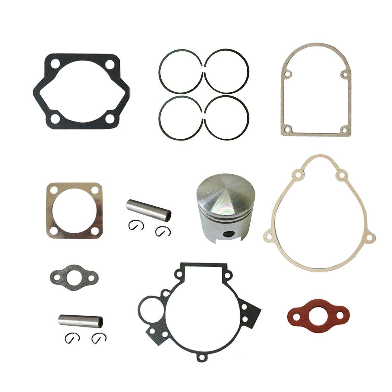 JRL Piston&2xPin Clips Wrist&Gasket Set Fit 80cc Motorized Bicycle Bike Motor Huang Machinery