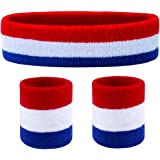 Favofit Headbands/Wristbands for Women Men Girls Boys for Gym Workout & Yoga, Super Comfy Sports Sweatbands for Football…