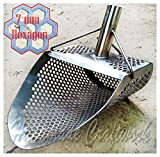 Sand Scoop for metal detecting HEXAGON 7 Beach Metal Detector Hunting Tool Stainless Steel COOB