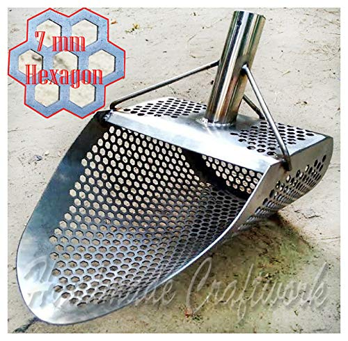 Sand Scoop for metal detecting HEXAGON 7 Beach Metal Detector Hunting Tool Stainless Steel COOB by CooB