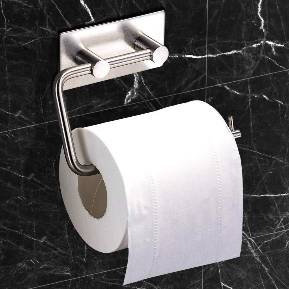 Toilet Paper Holder+2 Haken Selbstklebend Toilettenpapierrollenhalter Edelstahl Klopapierhalter Wc Halter Rollenhalter Klorollenhalter Papierhalter Nifogo Toilettenpapierhalter Ohne Bohren