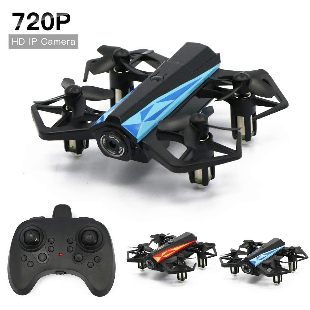 b8eb09e408 Dayangiii FPV RC Drone, con 720P HD Wi-Fi Telecamera Telecamera Telecamera  Live Video Feed 2.4 GHz a 6 Assi Gyro Quadcopter per Bambini &  principianti-360 ...