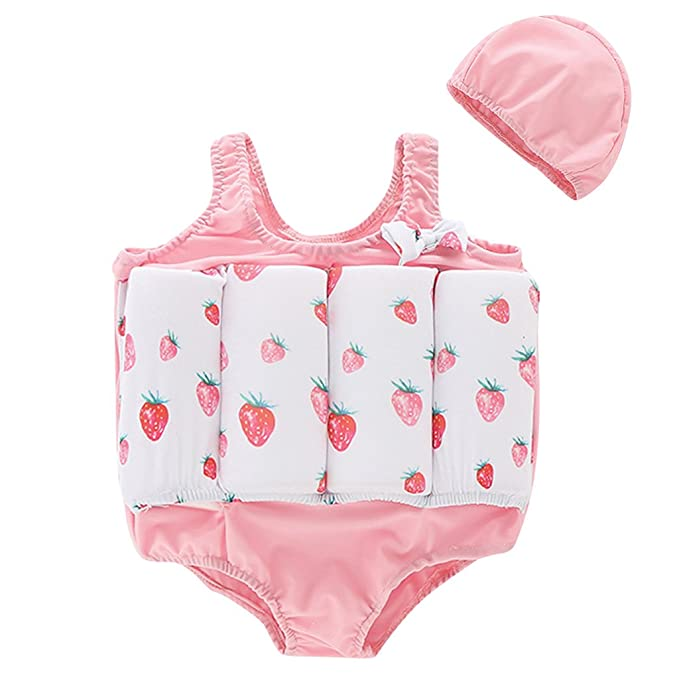 fb9abfeee9 Image Unavailable. Image not available for. Colour: Boys Girls Float Suit  Buoyancy Swimsuit - Kids One Piece Swimwear Training Vest Learn to Swim