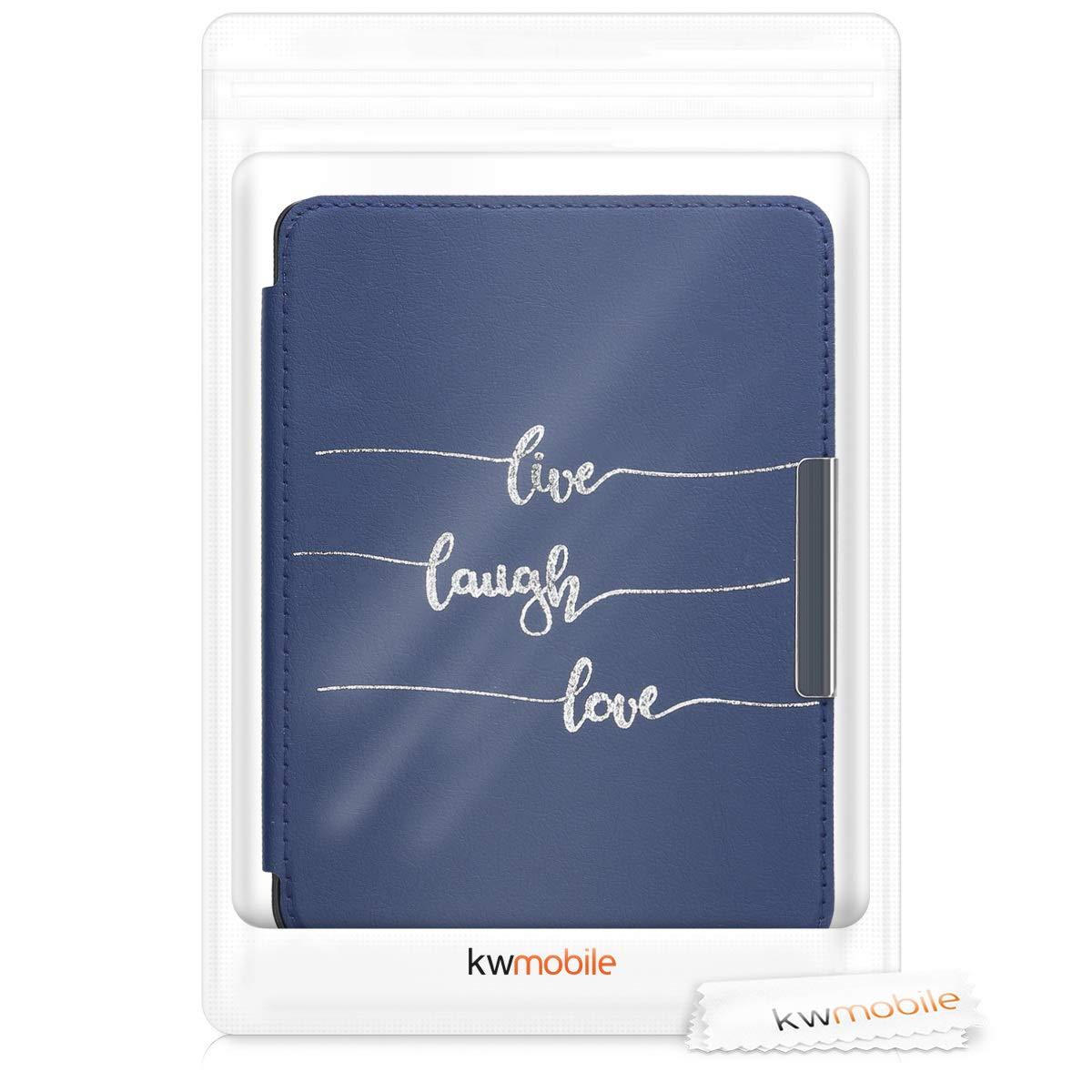kwmobile Funda para Kobo Clara HD Carcasa para e-Reader de Cuero sint/ético - Case con dise/ño con Mensaje Positivo