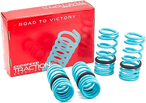 Improve Overall Handling And Steering Response Godspeed LS-TS-NN-0001-A Traction-S Performance Lowering Springs