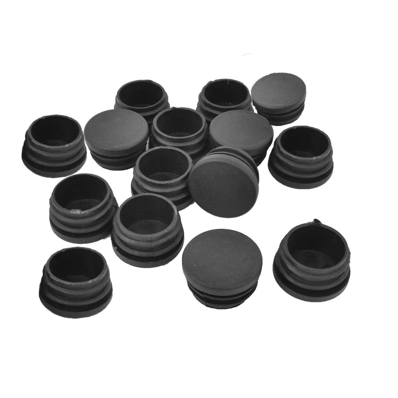 Ldexin 15pcs round plastic plug end tube insert cap furniture foot legs chair table glide covers protector pipe tubing end caps black amazon com