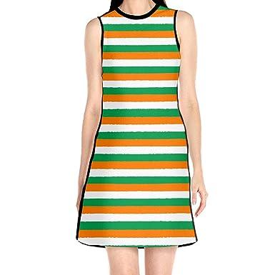 1b6fc0e80d L2WMHBSF St. Patrick s Day Irish Pattern Summer Beach Dresses for Women