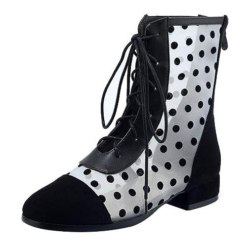 Mujer Tobillo Coolulu Sandalias De Tacón Zapatos Malla xeordCB