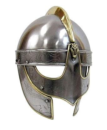 Amazon.com: AnNafi - Casco de armadura de lobo vikingo hecho ...