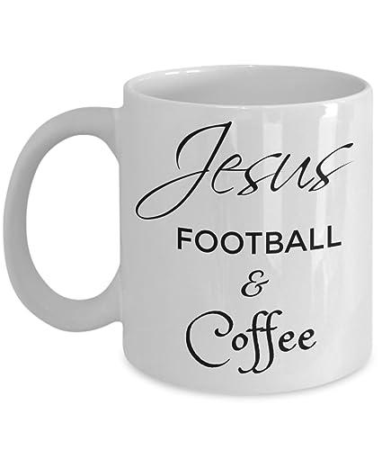 Amazon.com: Jesus Football and Coffee Mug - Christian Gifts for ...