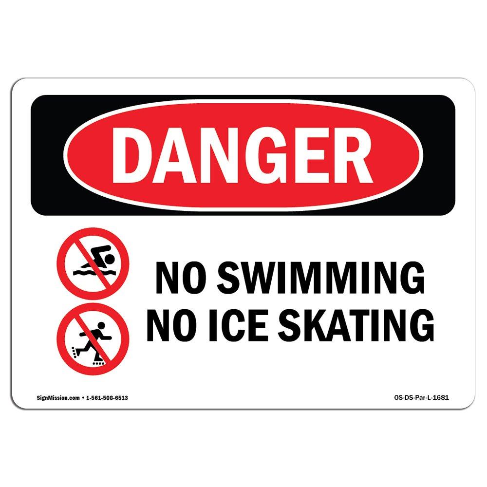Amazon.com: OSHA Señal de peligro – sin nadar ni patinaje ...
