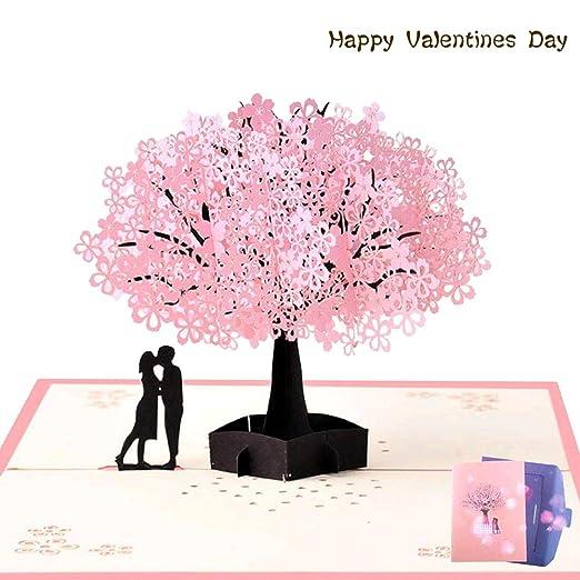NACTECH Pop-up Tarjeta Amor 3d Tarjeta de Felicitacion Cumpleaños Tarjetas Felicitacion Boda Aniversario Invitacion Regalo para San Valentín sin texto ...
