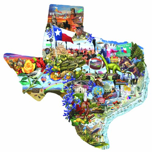 SunsOut Welcome to Texas! 1000 pc Jigsaw Puzzle (Fun Places For Kids In Dallas Tx)