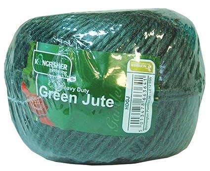 Kingfisher Cuerda de jute color verde: Amazon.es: Jardín