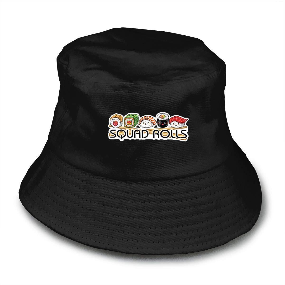 4686267731b Amazon.com  Unisex Cute Squad Rolls Sushi Bucket Hat Summer Fisherman Cap   Sports   Outdoors