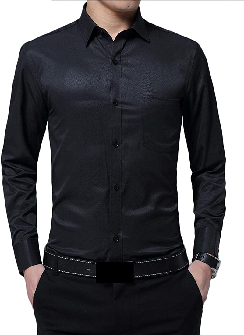 Earnest Mens Classic Contrast Inner Long Sleeve Lightwight Shirts