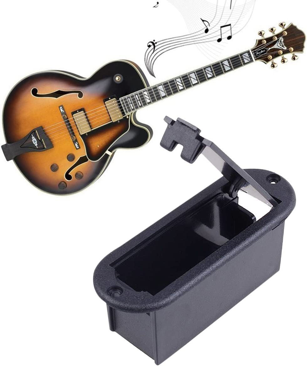 Aktive Gitarre Bass Pickups Accs 9v Batteriehalterung Abdeckung Musical