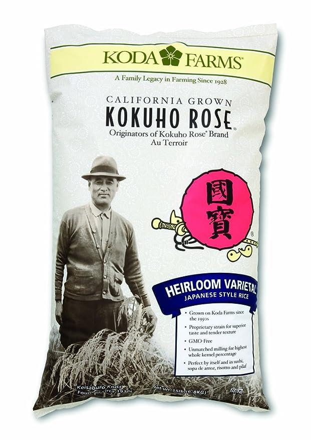 Amazon Com Koda Farms Kokuho Rose Heirloom Japanese Style Rice 15 Pound Dried White Rice Grocery Gourmet Food