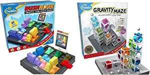 ThinkFun Rush Hour Traffic Jam Brain Game and STEM Toy & Gravity Maze Marble Run Brain Game and STEM Toy for Boys and Girls Age 8 and Up – Toy of The Year Award Winner