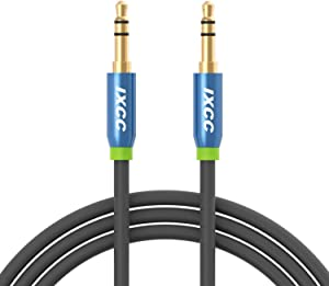 3.5mm Male to Male Aux Audio Stereo Cable [2Pack], [Ultra-Slim] iXCC 4Feet Auxiliary Cord for Car and All 3.5mm-Enabled Devices, Apple, Samsung, Android, Windows and MP3 Player