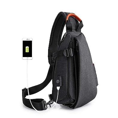 Amazon.com: Bolsas de carga USB para hombre, bolsa de ...