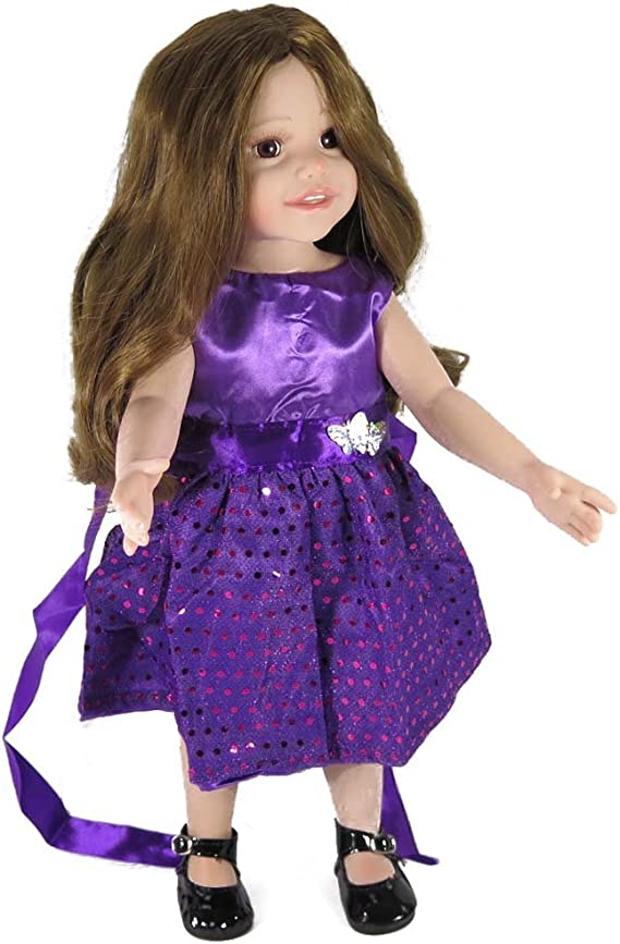Authentic American Girl Doll Clothes 18 Inches Purple Party Outfit