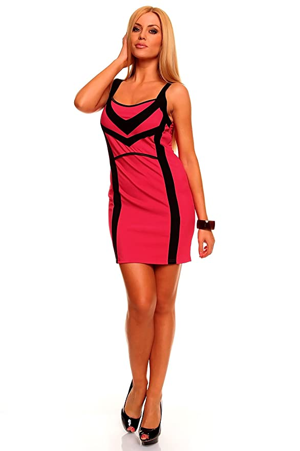 celebrity style formal quality pink black dress Sleeveless mini ...