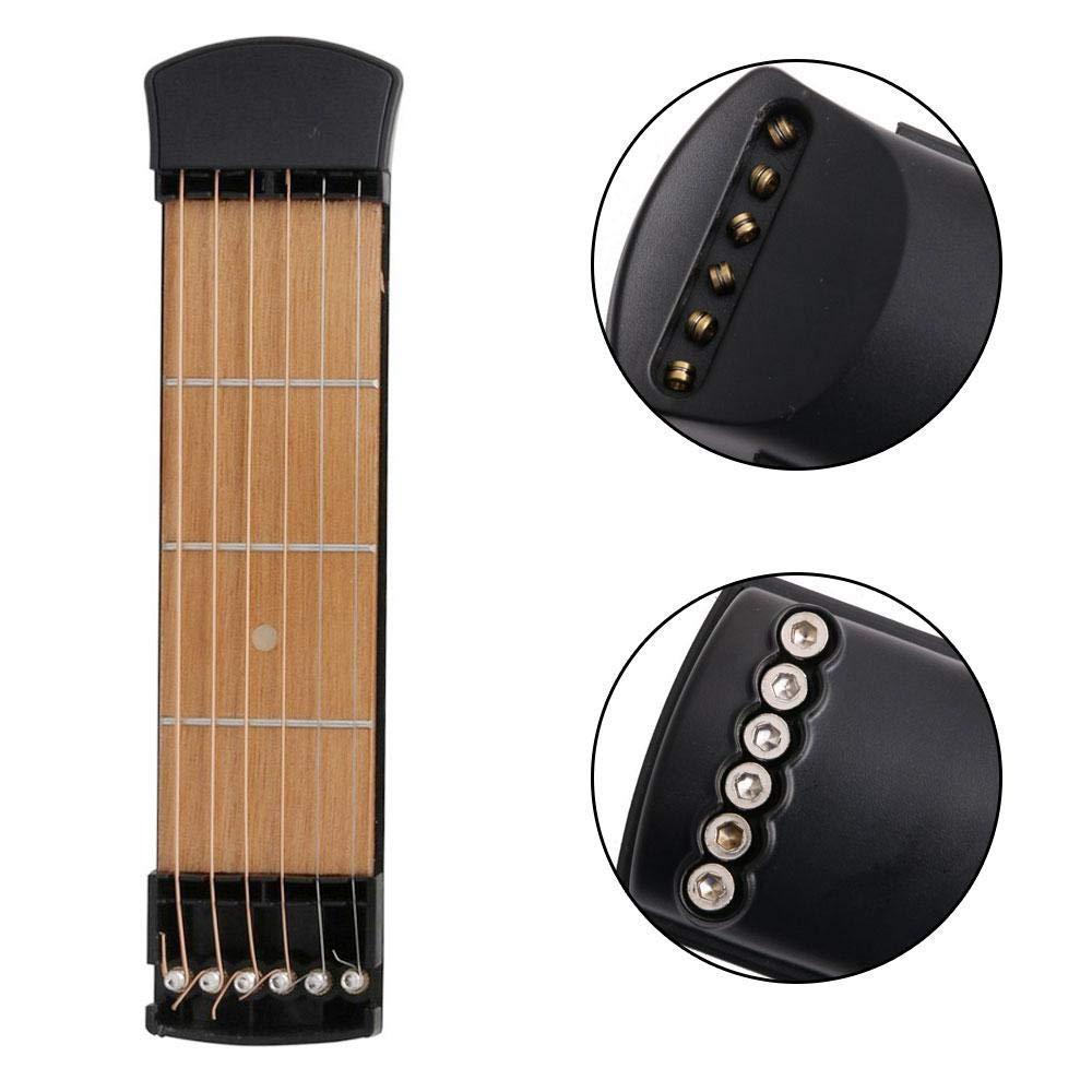 FOONEE Guitarra para Principiantes, Guitarra de Bolsillo Portátil, Guitarra Acústica Instructor de Acordes Herramienta de Práctica de Guitarra, Ejercicios ...