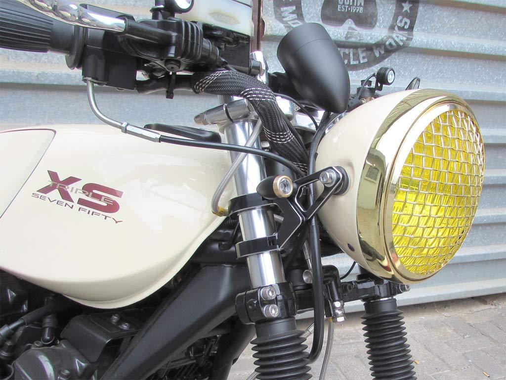 Caf/é Racer 36//37mm in Diameter Black Bike Lamp Bracket//Fork Mount Brat and Custom Bikes Universal for Harley Davidson Chopper Street Fighter Bobber Max-Inc Blade Motorcycle Headlight Brackets
