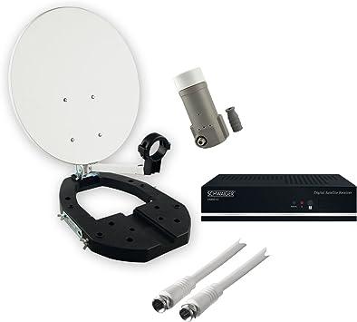 Schwaiger SAT3410 - Equipo de TV por satélite (receptor, LNB, antena parabólica, cable de alimentación) [importado]