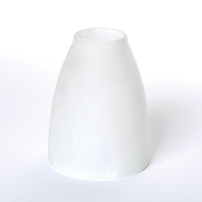 Glas Lampenschirm Ersatzglas weiß E14 Lochmaß Fassung ø 30mm abgeschrägt